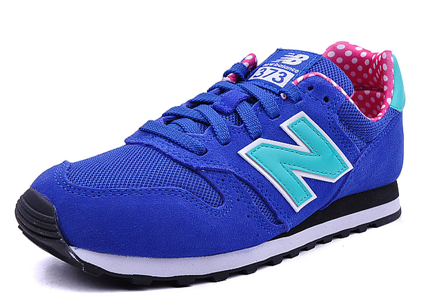 new balance 373 blue and red sneaker